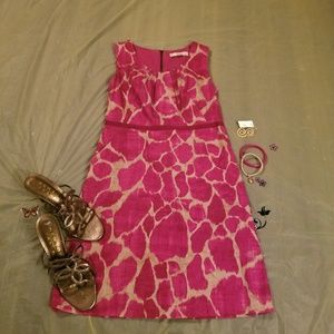 Pink and tan loft dress